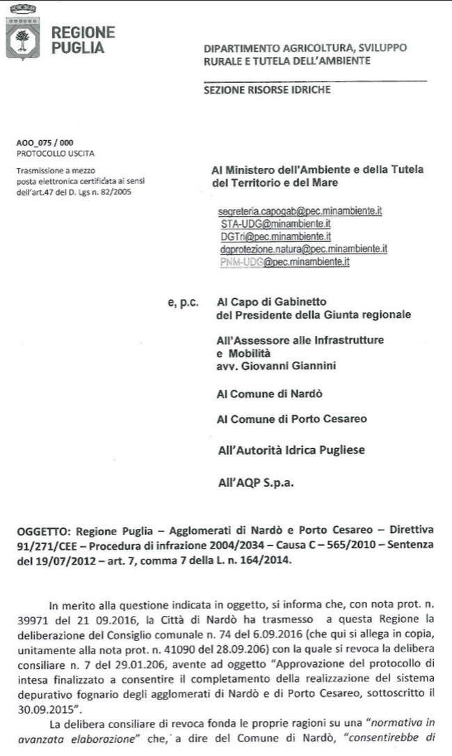 Porta di mare documento integrale la regione bastona - Porta di mare cronaca nardo ...