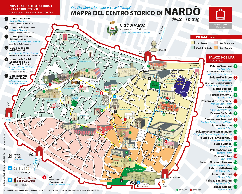 Cartina Puglia Nardo.Porta Di Mare I Palazzi Del Centro Storico Aprono Le Corti Ai Visitatori Ecco Per Voi La Mappa Scaricabile